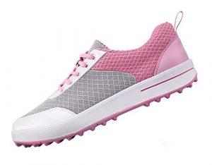 Atmungsaktive Spikeless Golfschuhe Damen für Frauen, Leichte Maschen-zufällige Gehende Turnschuh-Schuhe