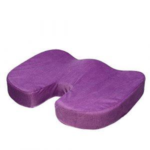 TENGGO Memory Foam Sitz Kissen Hüfte Schmerz Linderung Orthopädischen Stuhl Pad Kissen Bolster Relief Lösung-Lila
