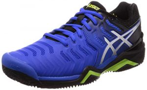 ASICS Herren Gel-Resolution 7 Clay Tennisschuhe, Mehrfarbig (Illusion Blue/Silver 407), 44 EU
