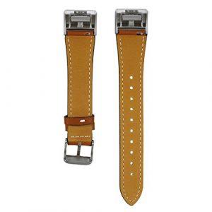 Bluelover Ersatz Uhren Band Armband Lederarmband Für Fitbit Charge 2 – Braun