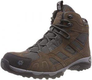 Jack Wolfskin Vojo Hike Mid Texapore Men Wasserdicht, Herren Trekking- & Wanderstiefel, Braun (Dark Wood 5690), 47 EU