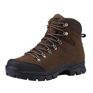 CAMEL CROWN Wanderschuhe Herren, Rutschfest Trekkingschuhe Warme Wanderstiefel Trekkingstiefel Männer für Wandern Abenteuer Outdoor Sport (Schwarz/Braun, 41-47)