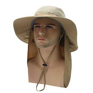 Bluelover Outdoor Big Hut mit Faltbaren Mantel Schatten Sonnenlicht Anti-UV-Reduzierbare Mehrzweck- – Khaki