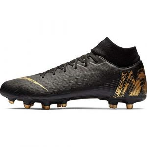 Nike Herren Superfly 6 Academy MG Fußballschuhe, Schwarz (Black/MTLC Vivid Gold 077), 44 1/2 EU