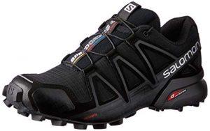 Salomon Damen Speedcross 4, Trailrunning-Schuhe, Schwarz (Black/Black/Black Metallic), Größe: 40