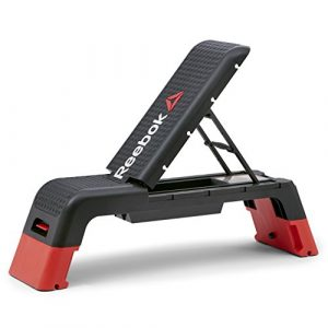 Reebok Deck Multifunktions-Stepbench, schwarz/rot