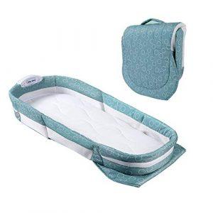 AIZYR Baby-Liegennest, Tragbare Babyschale (Moskitonetz Markise) -Klappbett Im Bett Babywiege, Schlafspieluhr, Intimes Nachtlicht (Geeignet Für 0-6 Monate)