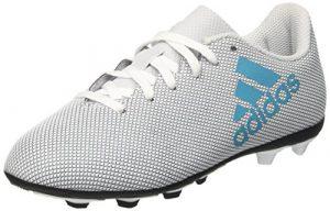 adidas Unisex-Kinder X 17.4 FxG Fußballschuhe, Weiß (Footwear White/Energy Blue/Clear Grey), 38 2/3 EU