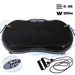 ANCHEER Vibrationsplatte Fitness Ganzkörper Trainingsgerät 200W Home Vibrationsgerät Vibration Plate mit Trainingsbänder, Fernbedienung, 90 Geschwindigkeitseinstellungen, 150kg belastet