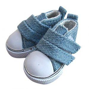 Vkospy 1 Paar 5cm Puppe Schuhe Seakers Puppe Spielzeug Schuhe Sport Tennisschuhe Kind-Geschenk-Spielzeug