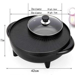 MJY Bbq Hot Pot, 1800 Watt Single-Cycle-Heizung Vielseitiger Topf, Reduzieren Sie den Smoke Cooker Barbecue Creative Home