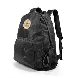 GUBEE Faltbarer Rucksack 20L, wasserdichter ultraleichter Reise Unisex Rucksack,Daypack für Indoor und Outdoor Sportarten (Schwarz)