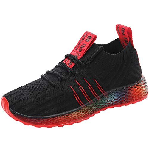 Sneaker Damen Sportschuhe Socken Schuhe Outdoor Schuhe Freizeit Slip On Bequeme Freizeitschuhe Atmungsaktiv Mesh Turnschuhe Laufschuhe Schnürschuhe (EU:40, Schwarz)
