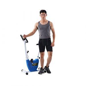 Yhjklm Professionelles Heimtrainer Home Ultra-leise Zwei-Wege-Folding Magnetic Control Rotierende Spinning Fahrrad Mini Ribbon Heimtrainer Stationäres Fahrrad für Heimtrainer (Farbe : Blau)