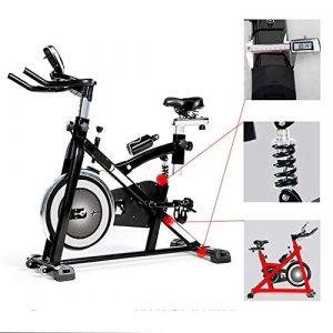 Zgsjbmh Fahrradtrainer, Heimtrainer Fortschrittliches intelligentes Spinning-Bike mit Trainingscomputer und elliptischem Cross-Trainer mit Stoßdämpfungssystem Fitness-Fahrrad
