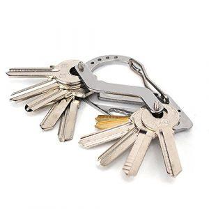 Bluelover Edelstahl EDC Multi-Funktions-Schlüsselanhänger Schraubendreher Schlüsselkarabiner Für Camping Outdoor Tools