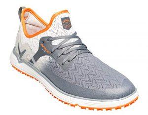 Callaway Herren Apex Lite Lightweight Spikeless Golfschuhe, Grau Grey/Orange, 46 EU