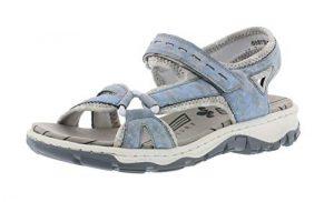 Rieker 68879 Damen Trekking Sandalen,Outdoor-Sandale,Sport-Sandale,Sommerschuh,heaven/silverflower/12,36 EU / 3.5 UK