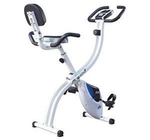 ION Fitness AXEL FI022 klappbarer Heimtrainer, Fitnessbike mit rückenlehne, 8 kg schwungmasse, Magnetisches Bremssytem, Transporträder